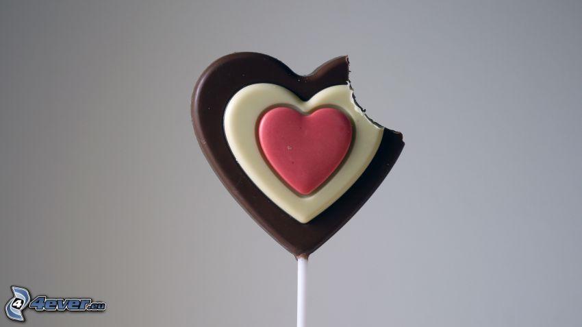 slickepinne, hjärtan