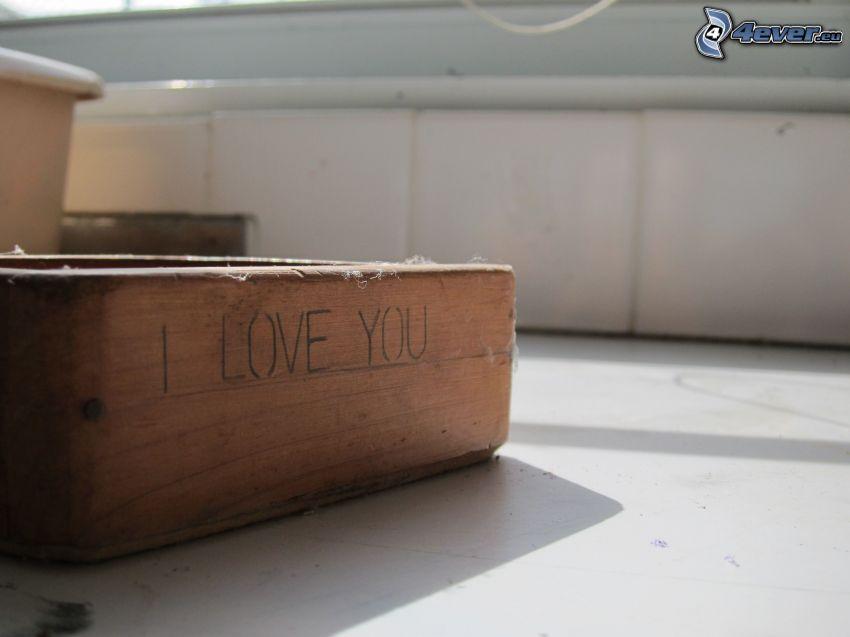 I love you, låda