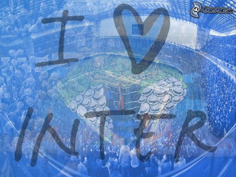 kärlek, fotboll, FC Internazionale Milano, fotbollsstadion