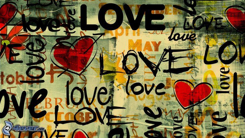 love, hjärtan