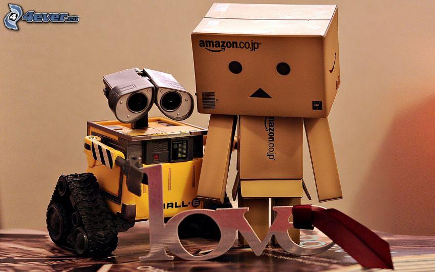love, pappersrobot, WALL·E