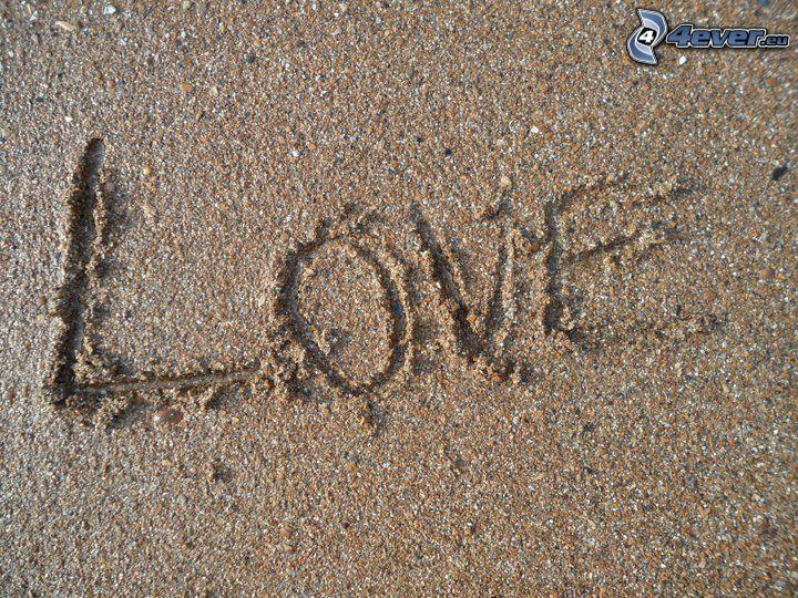 love, sand
