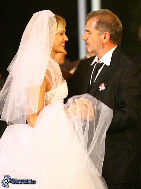 bröllop, brud, brudgum, par
