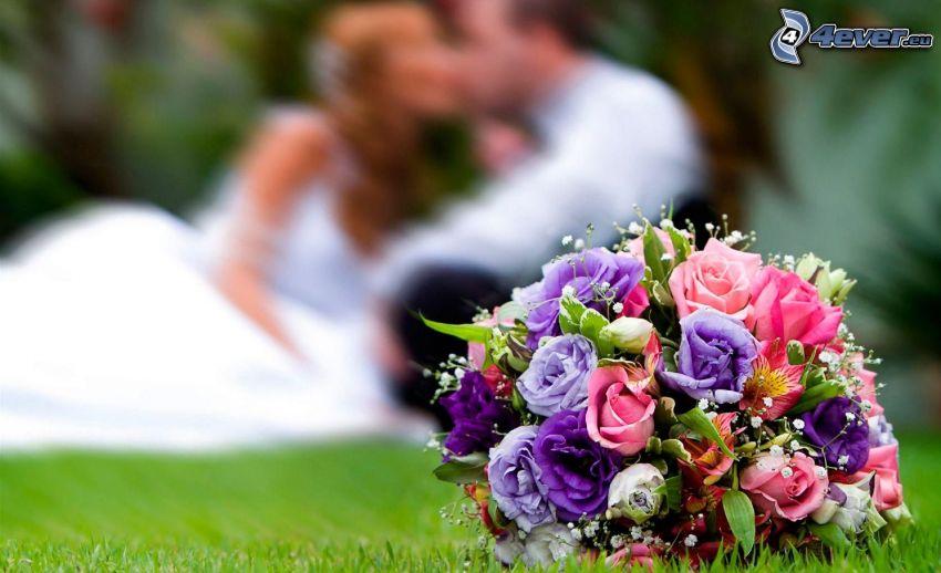 bukett, nygifta