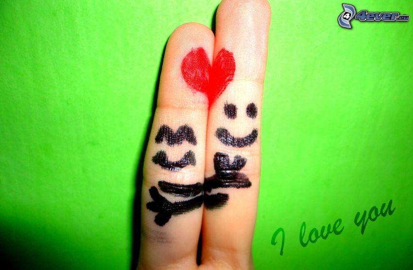 kära fingrar, hjärta