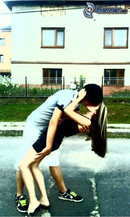 kyss, gata