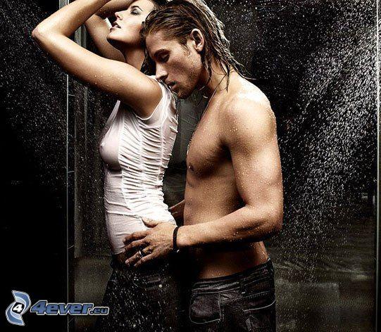 par i dusch, kärlek, förspel