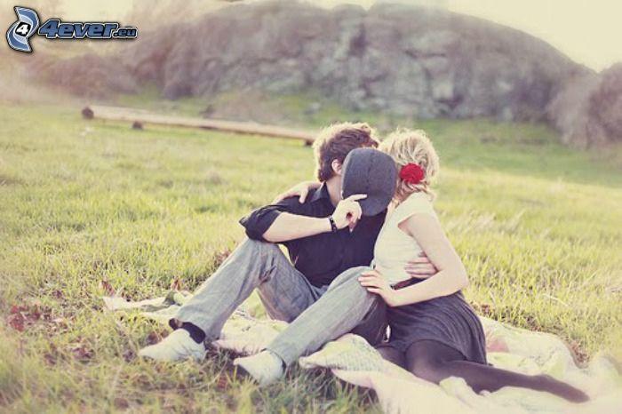 par på gräs