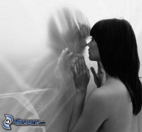 separation, kärlek gör ont, flicka och pojke, vägg
