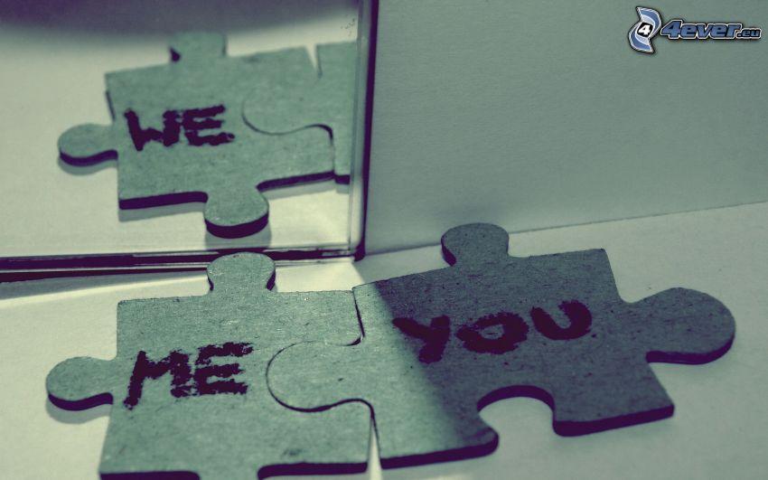 puzzle, jag och du