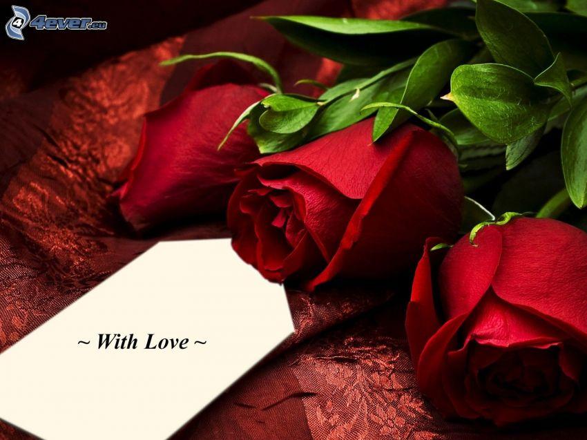 röda rosor, love