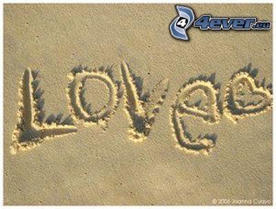 sand, love, kärlek