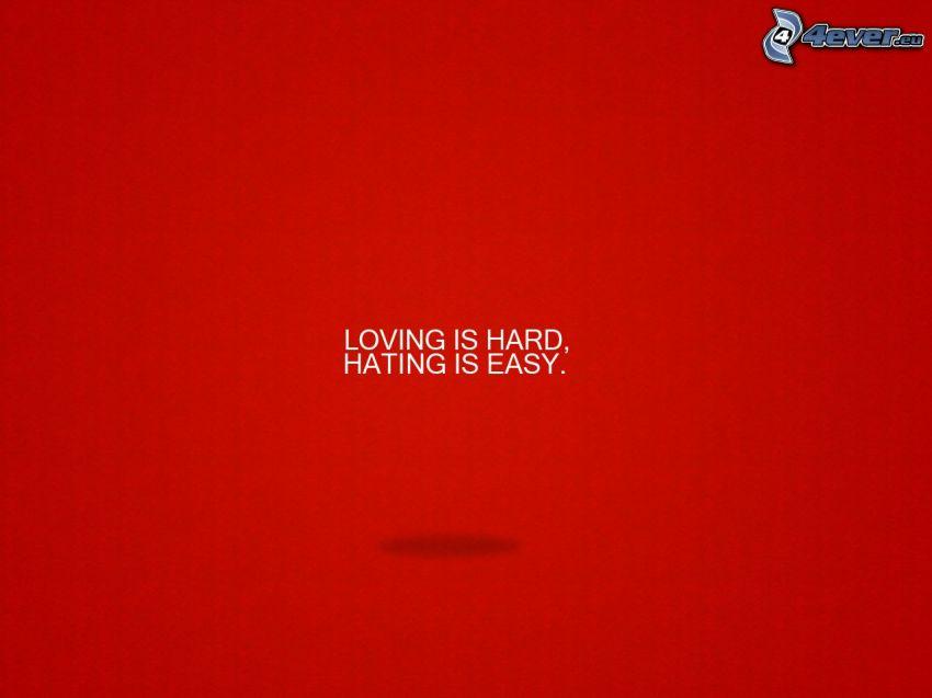 kärlek, hat