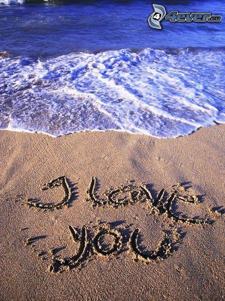kärlek, hav