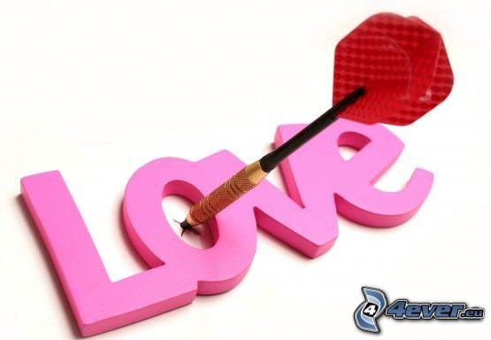 kärlek, love, pil
