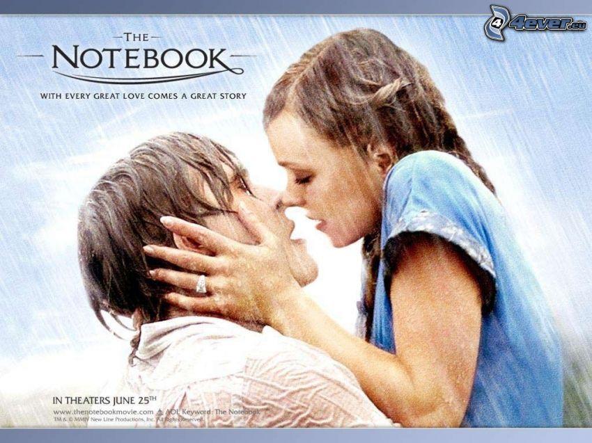The Notebook, par i regn, flyktig kyss