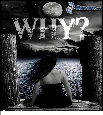 varför, tjej, fullmåne