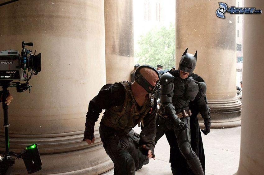 Bane, Batman, inspelning