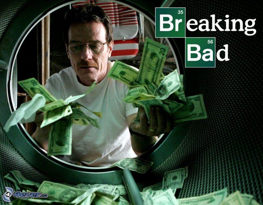Breaking Bad, pengar, tvättmaskin