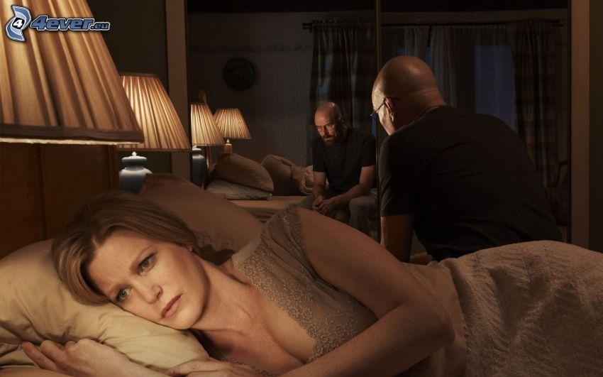 Breaking Bad, spegling, spegel, tjej i säng