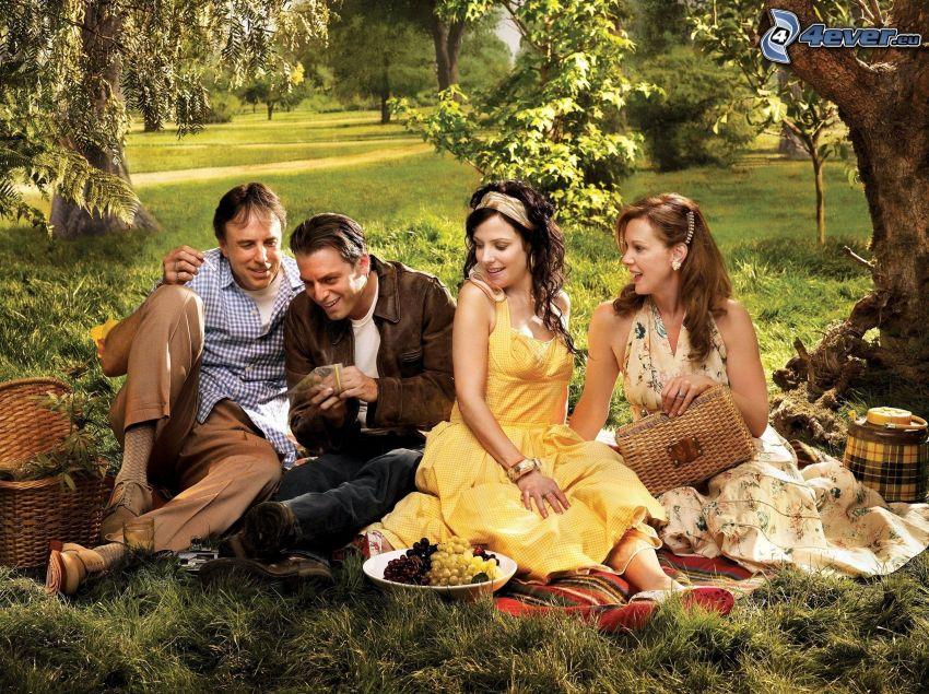 Gräs, picknick