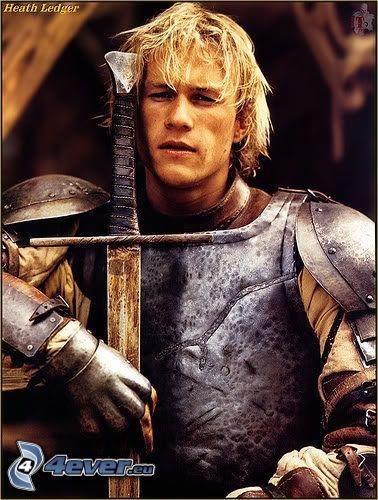 Heath Ledger, A Knight's Tale, svärd, rustning