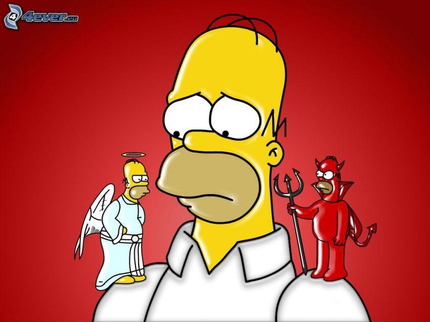 Homer Simpson, ängel och djävul