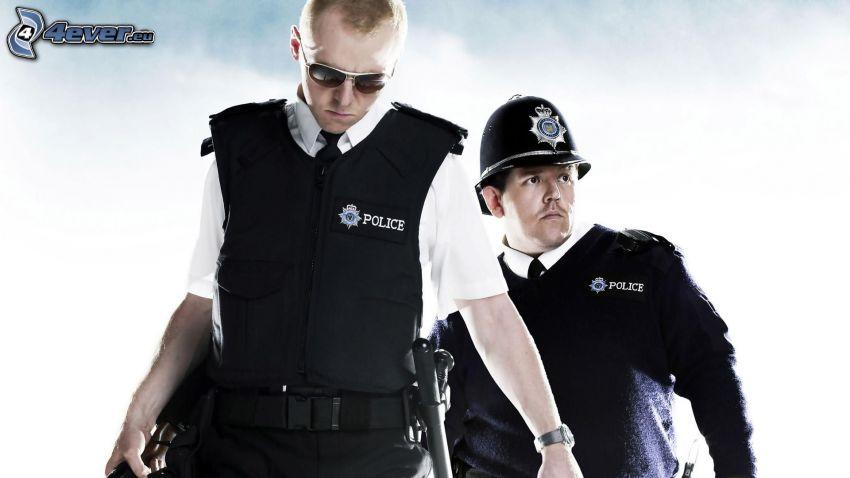 Hot Fuzz, poliser