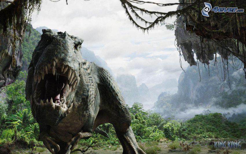 King Kong, Tyrannosaurus