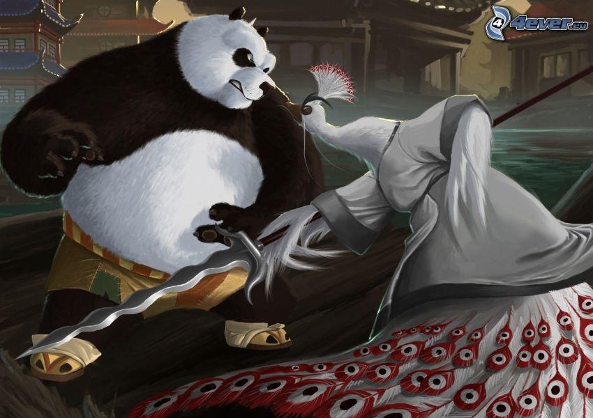 Kung Fu Panda, påfågel, svärd
