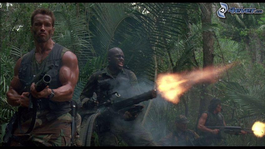 Predator, skytte, Arnold Schwarzenegger
