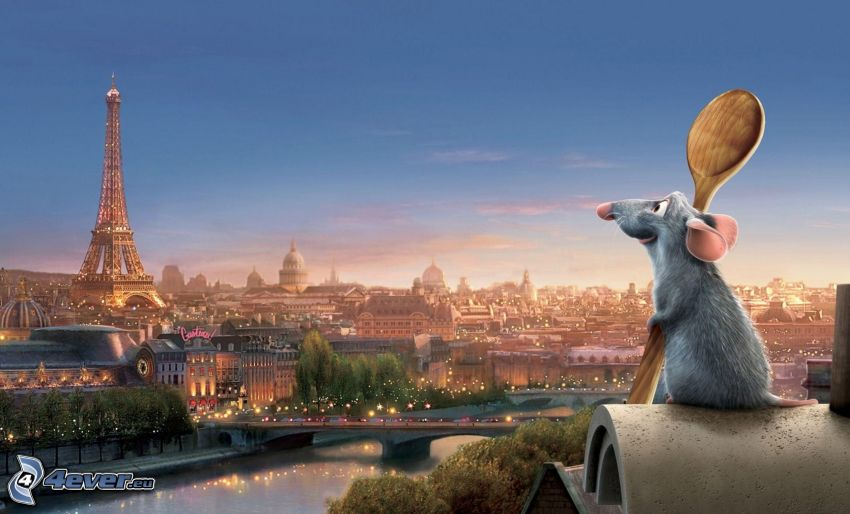 Ratatouille, Paris, Eiffeltornet