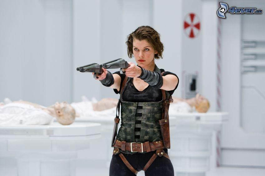 Resident Evil: Afterlife, kvinna med vapen