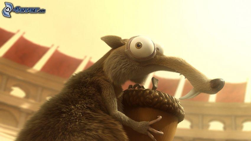 Scrat, ekorre från filmen Ice Age, Istiden
