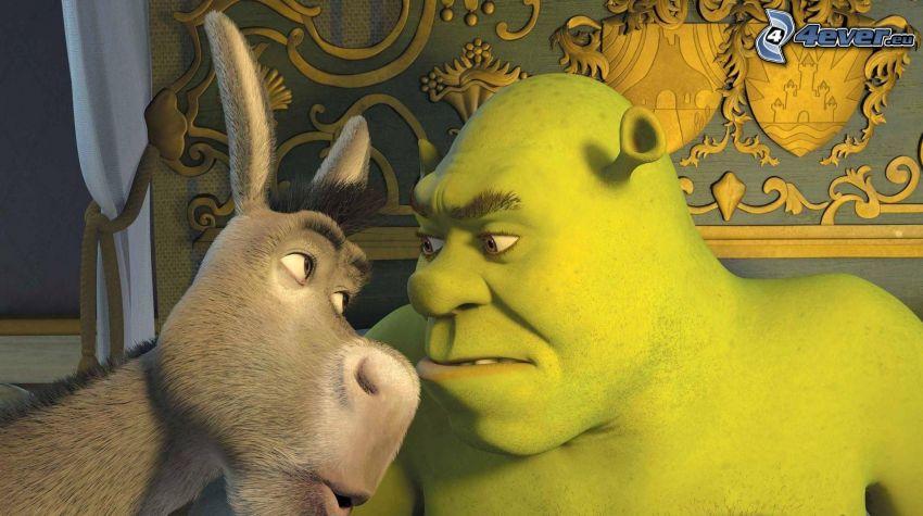 Shrek, åsna, saga