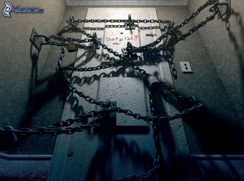 Silent Hill, kedjor, dörr