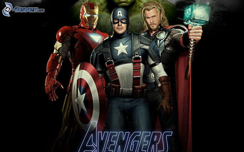 The Avengers, Iron Man, Captain America, Thor