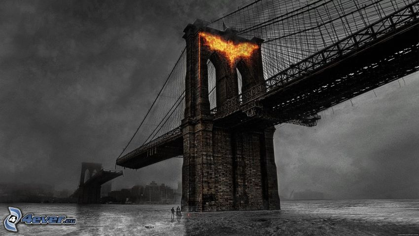 The Dark Knight Rises, förstörd bro, Brooklyn Bridge
