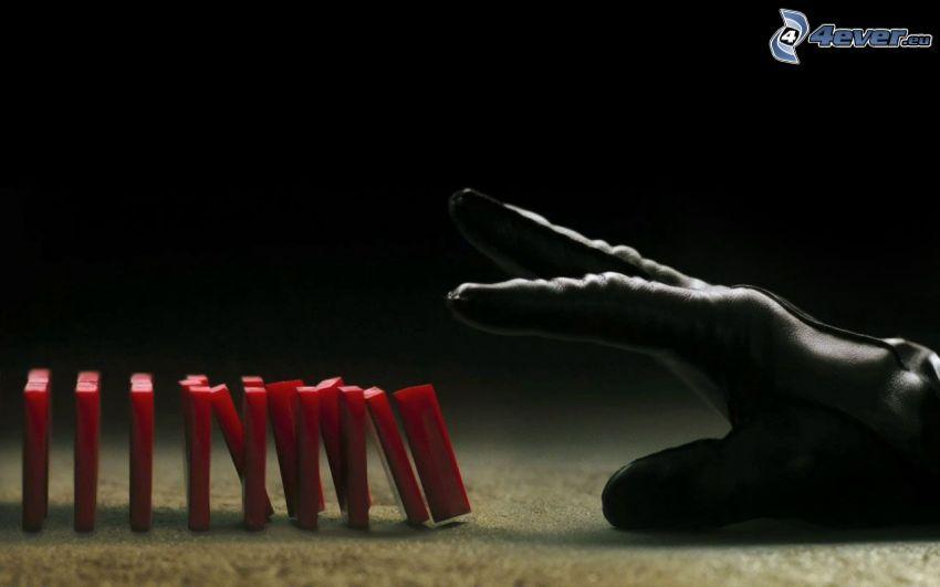 V för Vendetta, hand, Domino