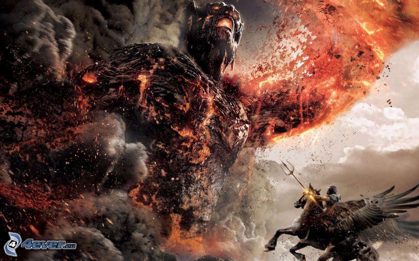Wrath of the Titans, demon, riddare
