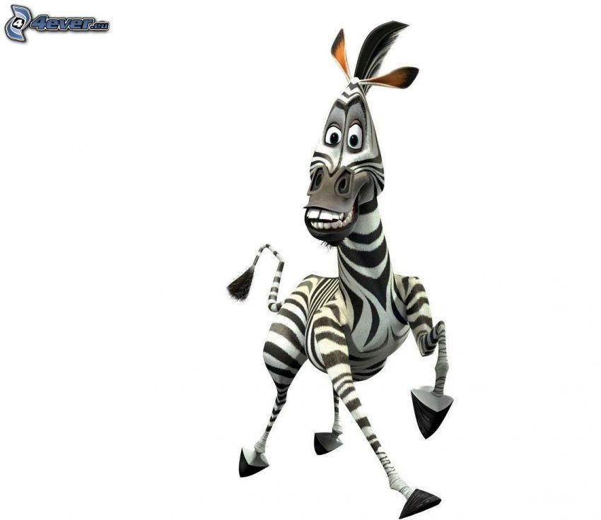 zebran från Madagaskar