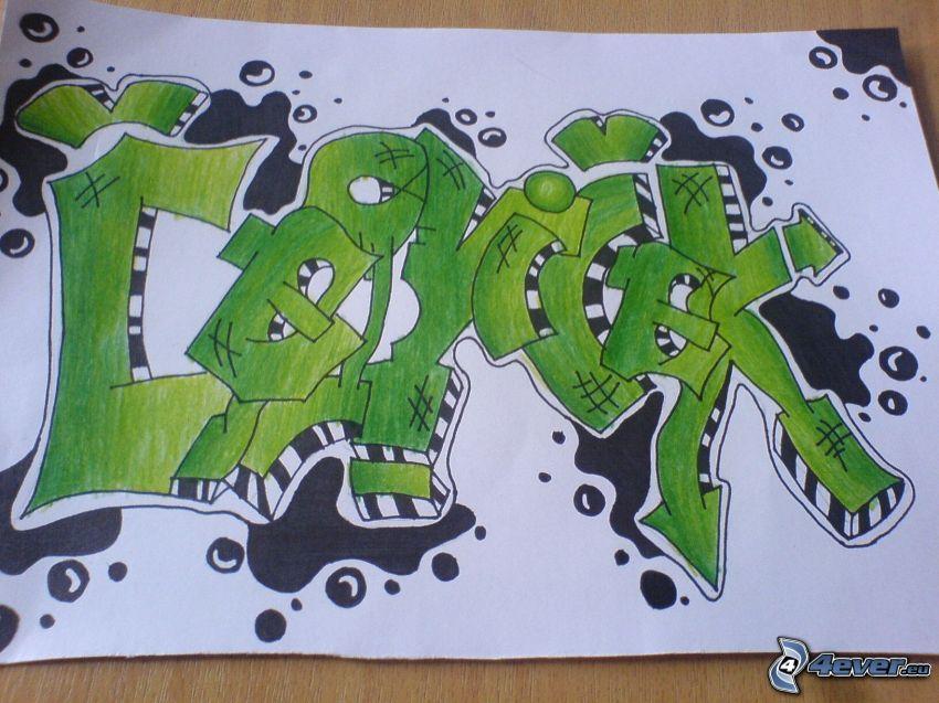 graffiti, skiss