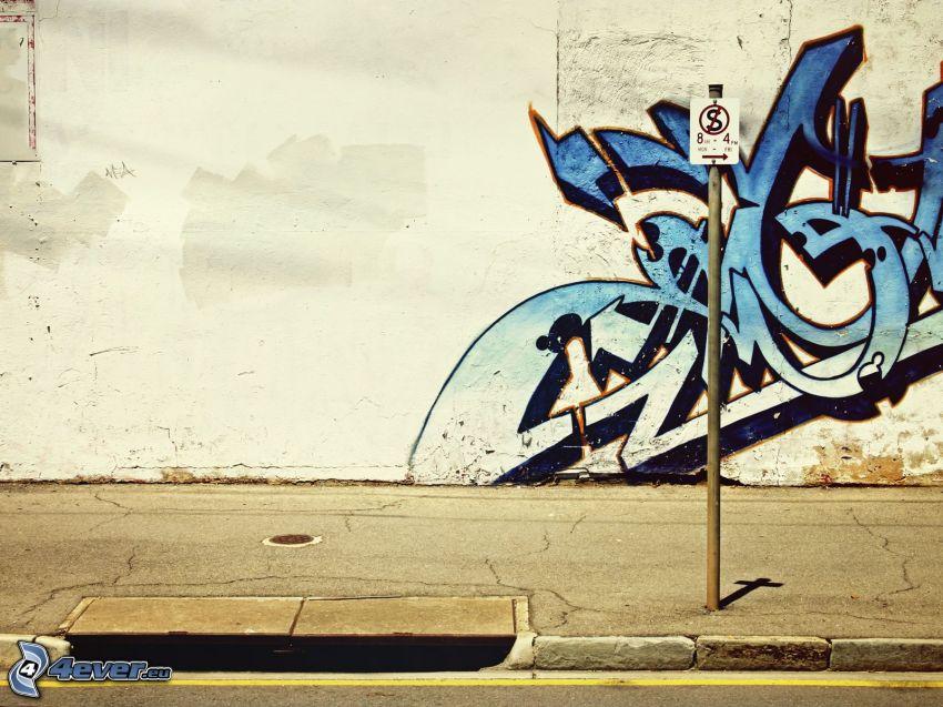 graffiti, vägg