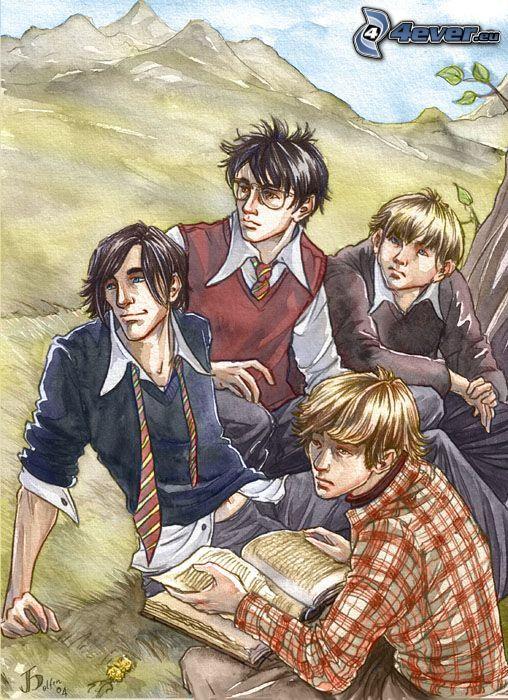 Harry Potter, tecknat