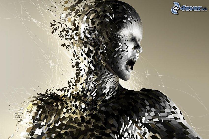 människa, digital konst