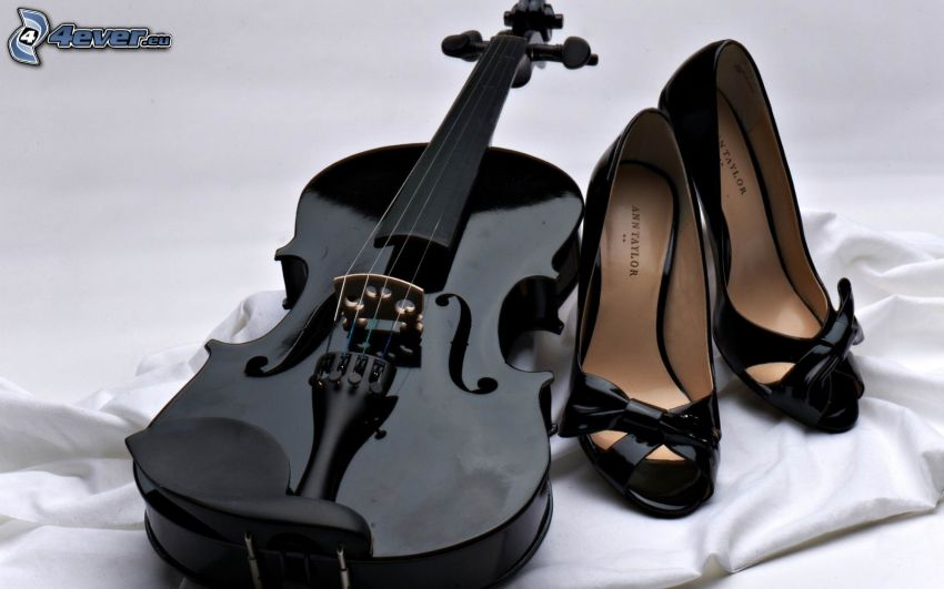 fiol, klackskor
