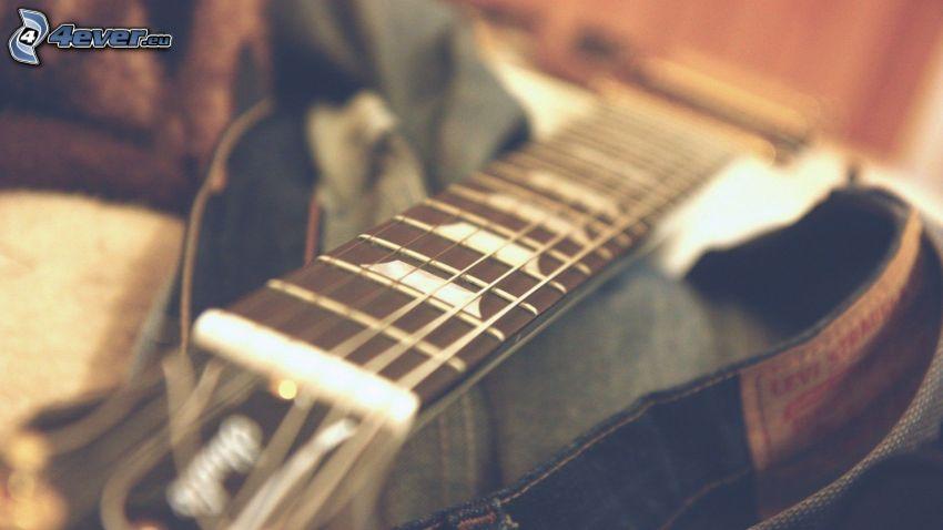 gitarr, byxor