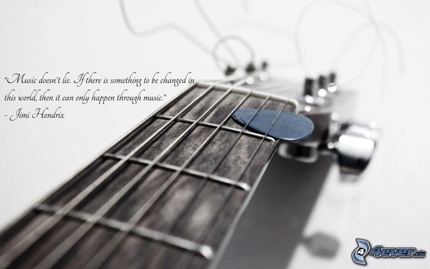 gitarr, plektrum