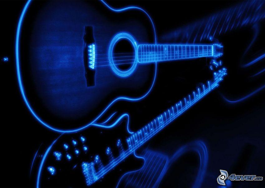 gitarr, spegling