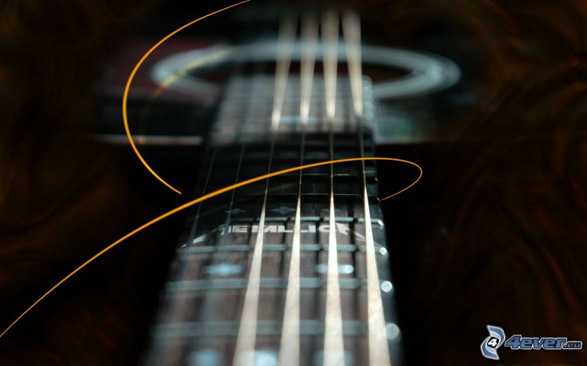 gitarr, strängar, abstrakt linje, Metallica